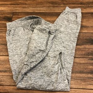 Heather knit grey joggers